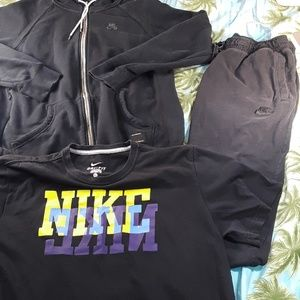 3 PC. NIKE Outfit (Pants, Hoodie, and Shirt) Sz. L
